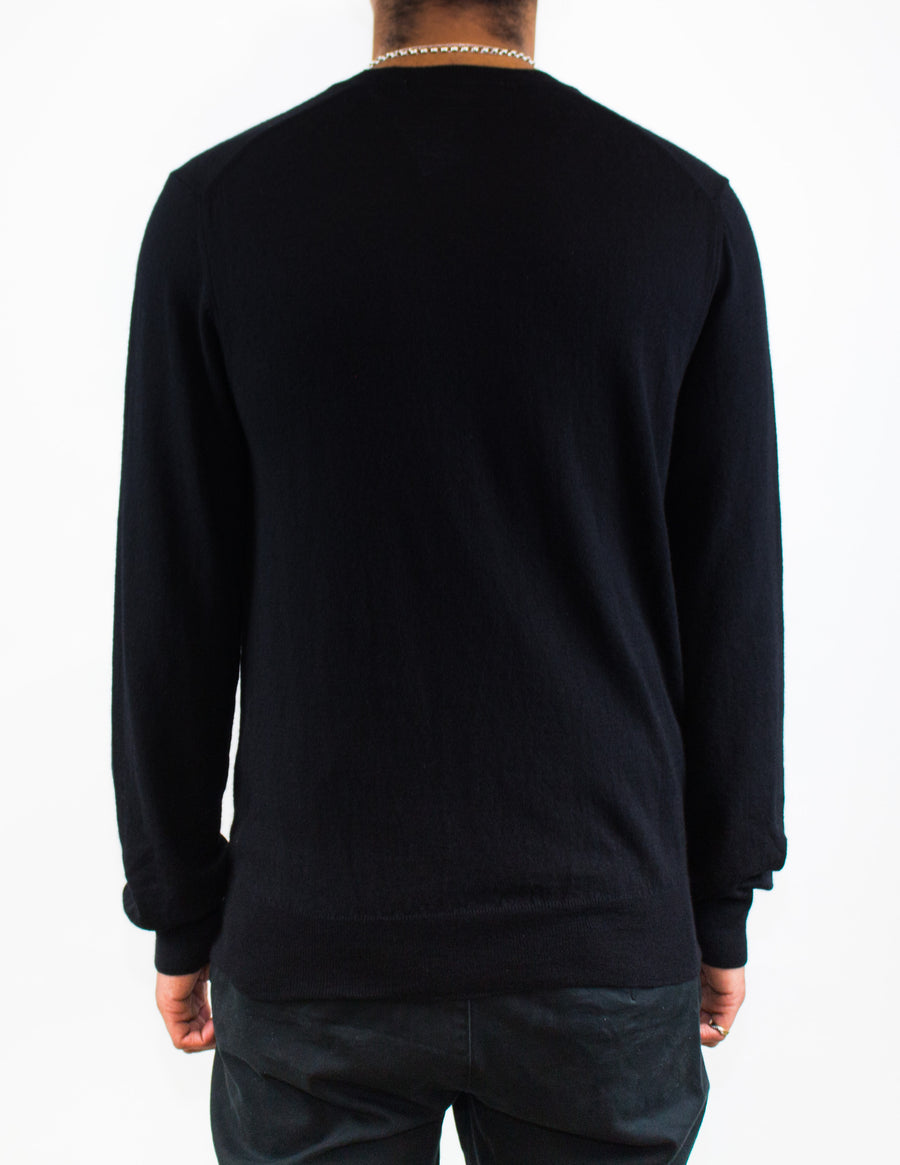 CDG SHIRT Crew Neck Knitwear Black - Back