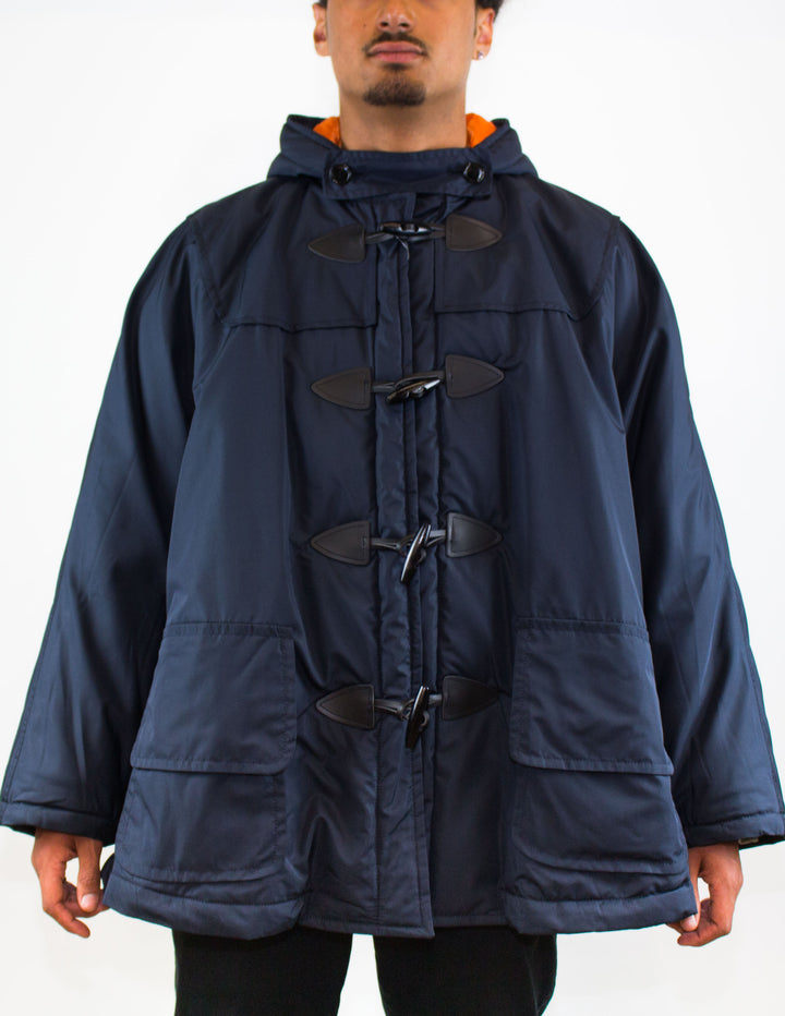 CDG SHIRT Duffle Coat Navy - Front