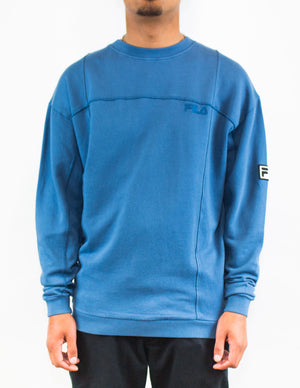 Crew Neck Sweatshirt Blue Ash
