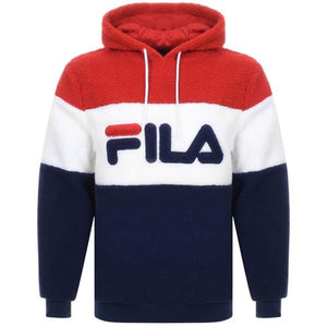 Boris Over The Head Hoodie - Navy/White/Red | Fila