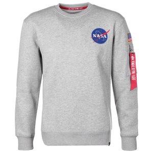 Space Shuttle Sweatshirt - Grey | Alpha Industries