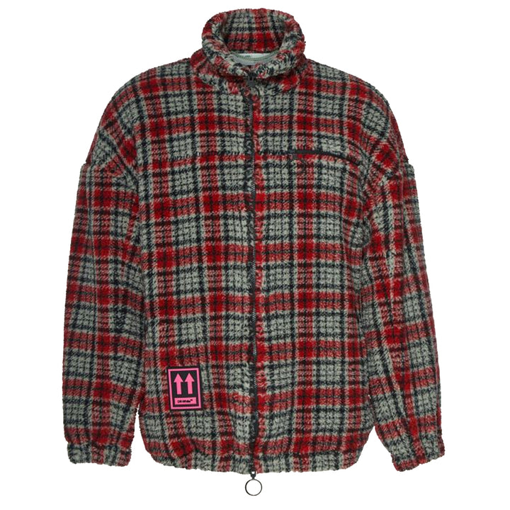 Zip Anorak - Red Grey | Off-White