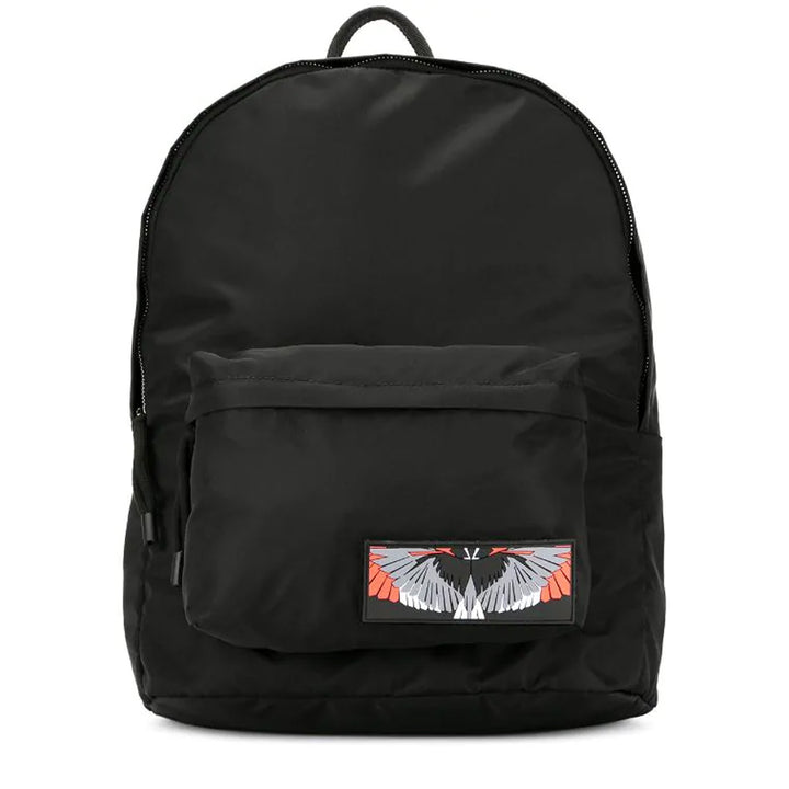Patch Wings Backpack - Black | Marcelo Burlon