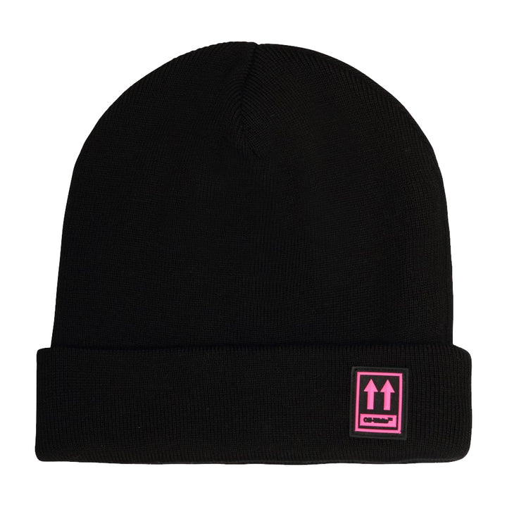 Off White Patch Beanie Black