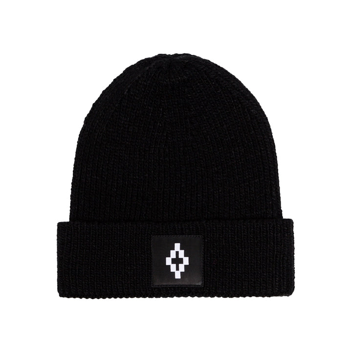 Marcelo Burlon County Logo Beanie Black White
