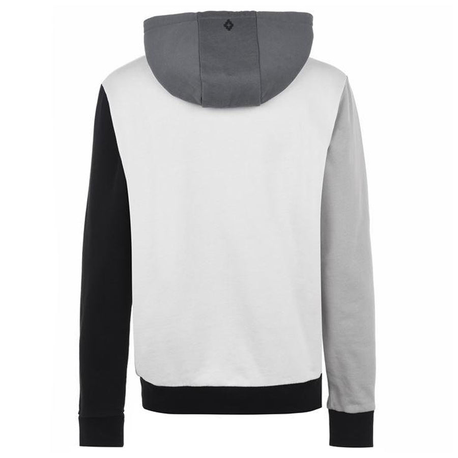 Block Color Hoodie - Grey White | Marcelo Burlon