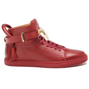 Buscemi 100MM Leather High-Tops Red