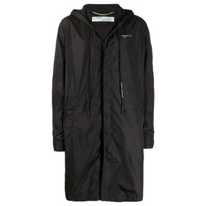 Unfinished Raincoat - Black Silver | Off-White