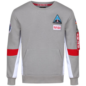 Space Camp Sweater - Grey | Alpha Industries