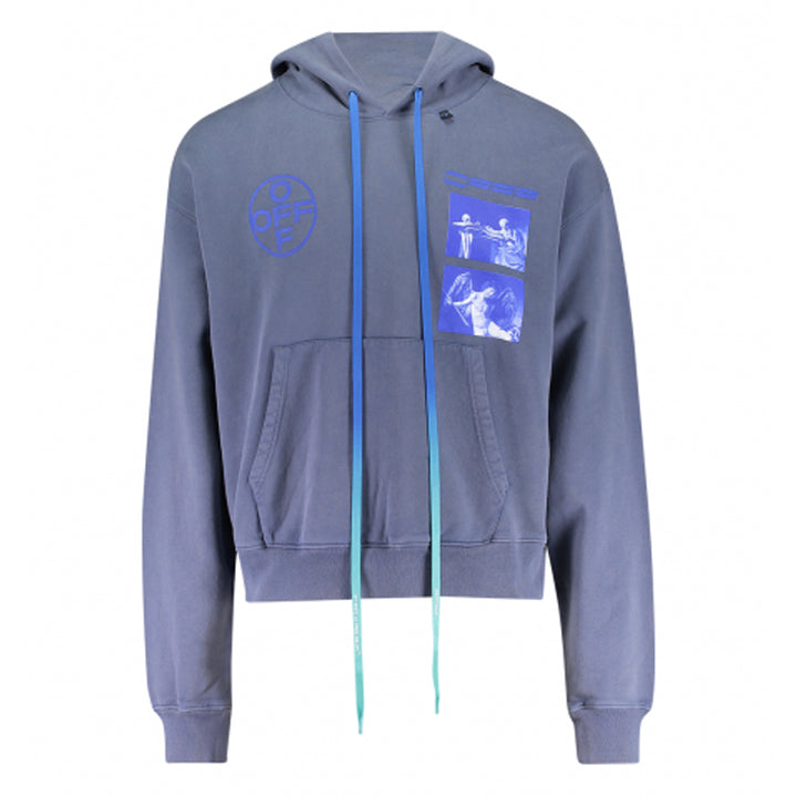 Hardcore Caravagg Over Hoodie - Indigo Blue | Off-White