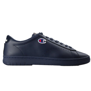 Champion Low Cut Patch Leather Trainer - Navy