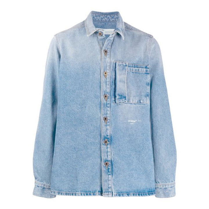Bleached Denim Shirt - Blue | Off-White