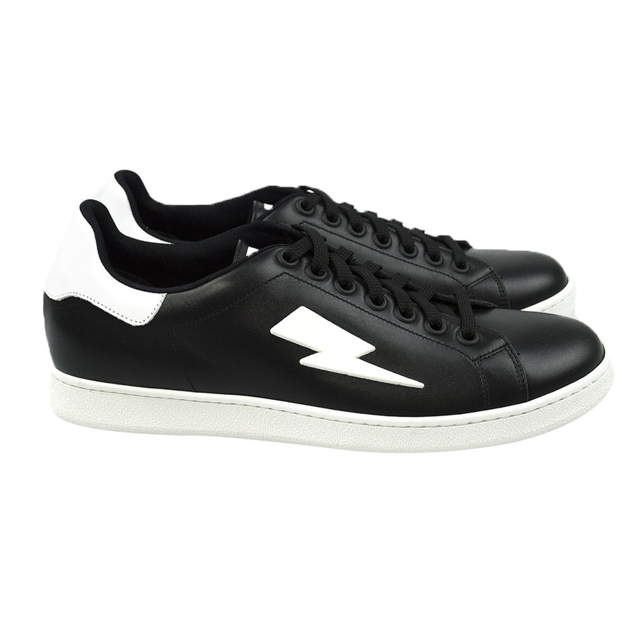 Neil Barrett Thunder Bolt Tennis Trainers - Black
