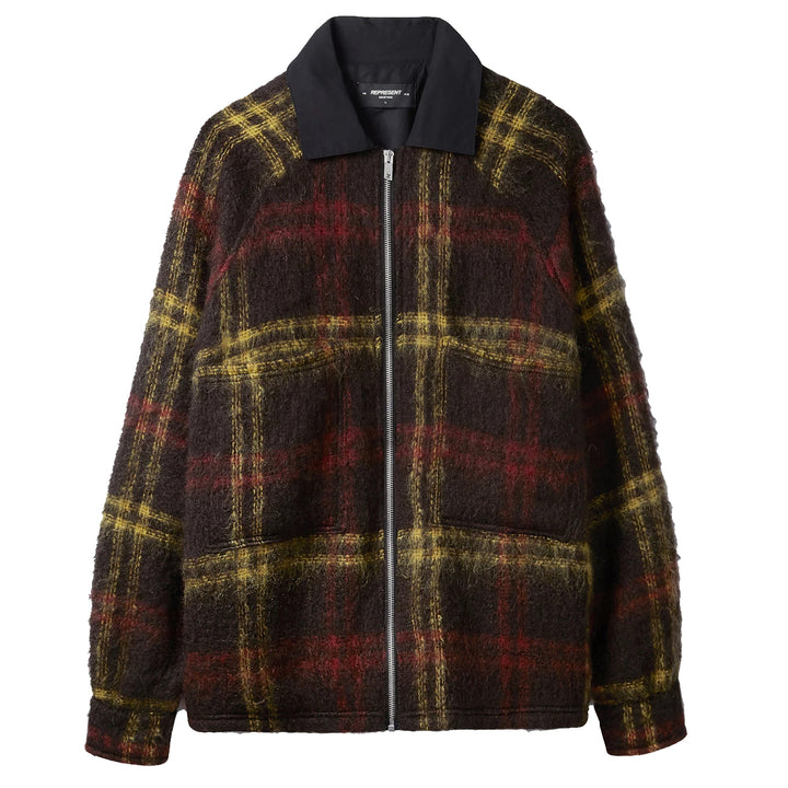 Mohair Work Shirt - Red Yellow Check | REPRESENT CLO