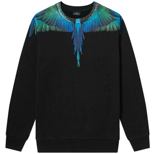 Blue Wings Crew Sweat - Black | Marcelo Burlon