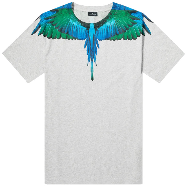 Blue Wings Tee - Grey | Marcelo Burlon