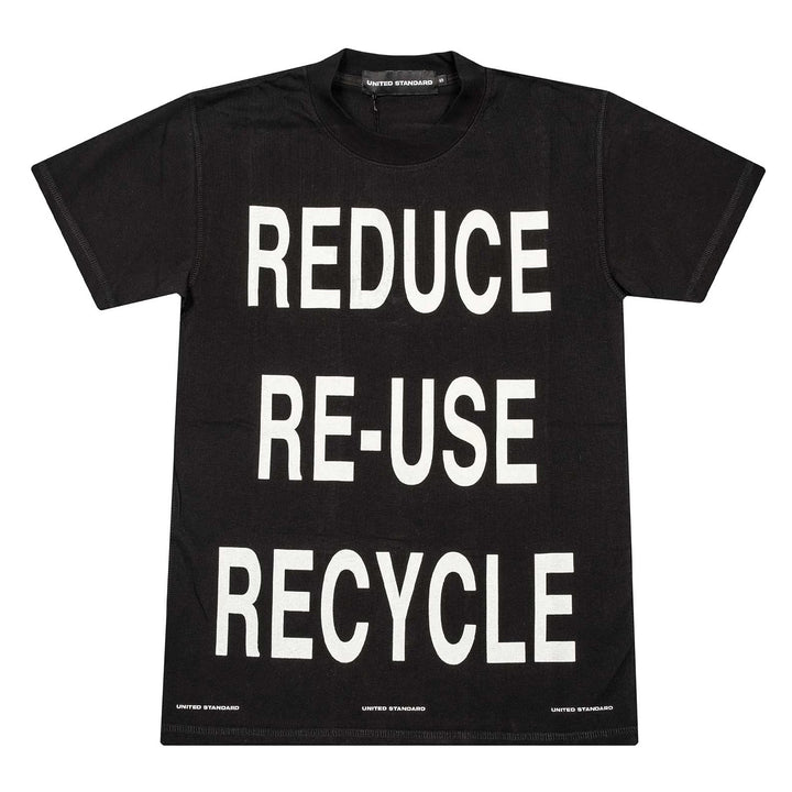 Virgil Recycle T-Shirt - Black | UNITED STANDARD