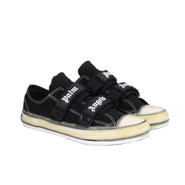 Velcro Vulcanised Sneakers - Black White | Palm Angels