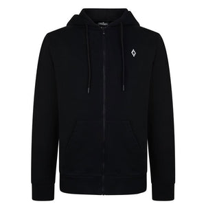 Marcelo Burlon Heart Wings Zipped Hoodie Black White