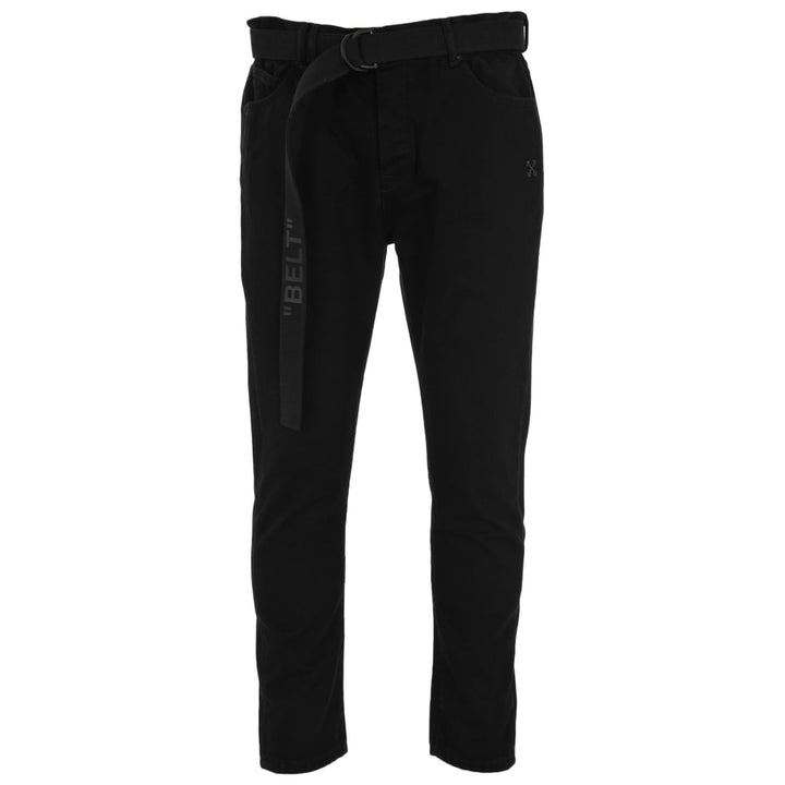Slim Low Crotch Jeans - Black | Off-White