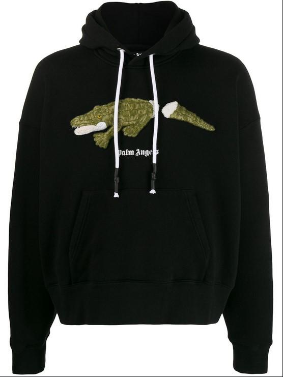 Palm Angels CROCO Hoody Black / Green