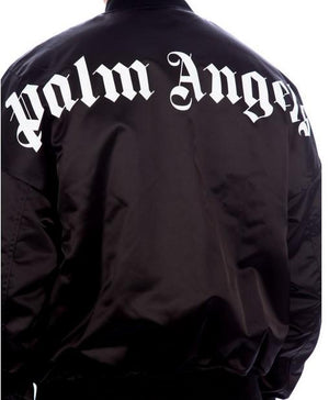 Palm Angels Logo Over Bomber Black / White