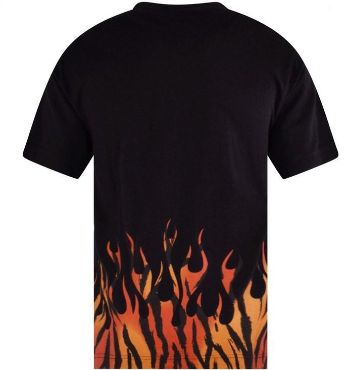 Palm Angels Tiger Flames Tee Black / Orange