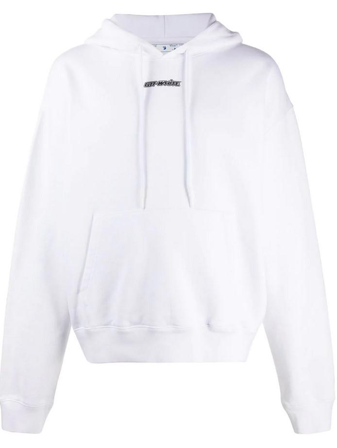 Off-White Marker Over Hoodie White / Red