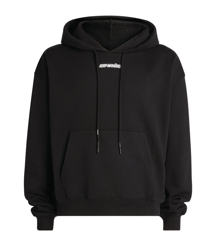 Off-White Marker Over Hoodie Black / Red