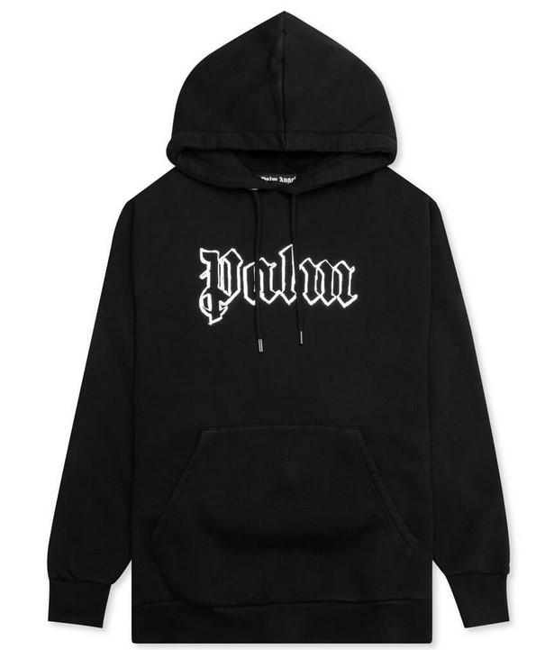 Palm Angels Glow In The Dark Over Hood Black Metal