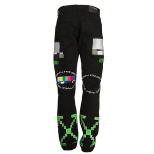 EV Bravado Relaxed Jeans - Black Multi | Off-White
