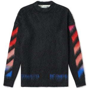 Off White Brush Mohair Jumper Black Multi