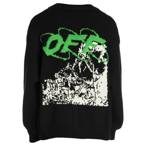 Ruined Factory Knit Crewneck - Black White | Off-White