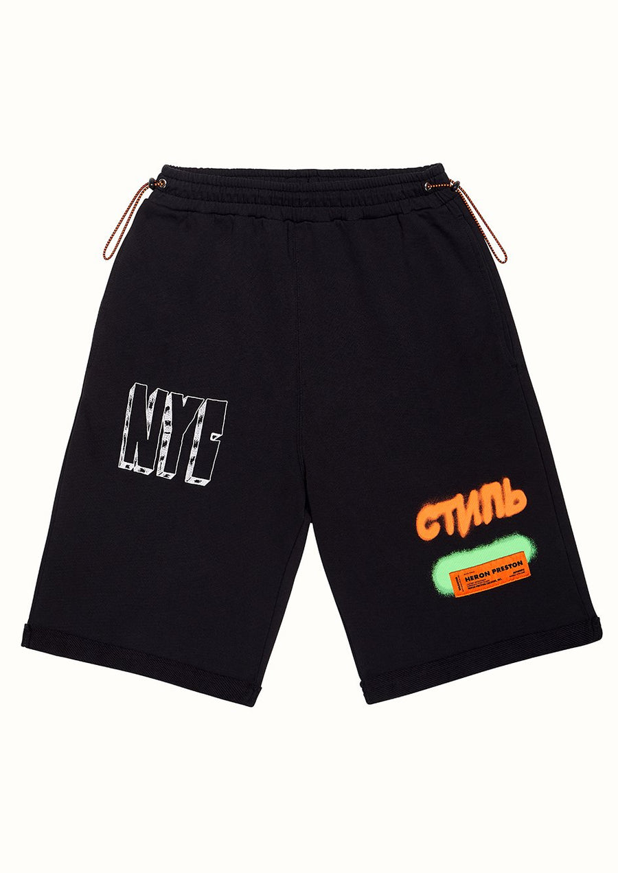 Spray Pack Shorts - Black | Heron Preston