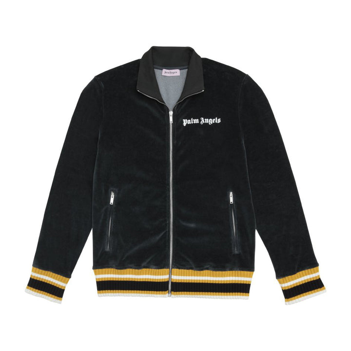 Chenille Track Jacket - Black White | Palm Angels