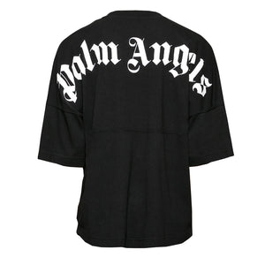 Palm Angels Logo Over Tee Black White