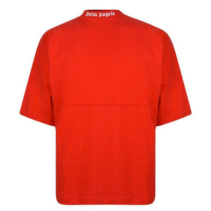 Logo Over Tee - Red White | Palm Angels