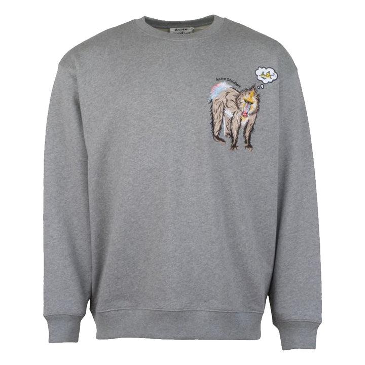Forba Animal Emb Sweater - Grey | Acne Studios