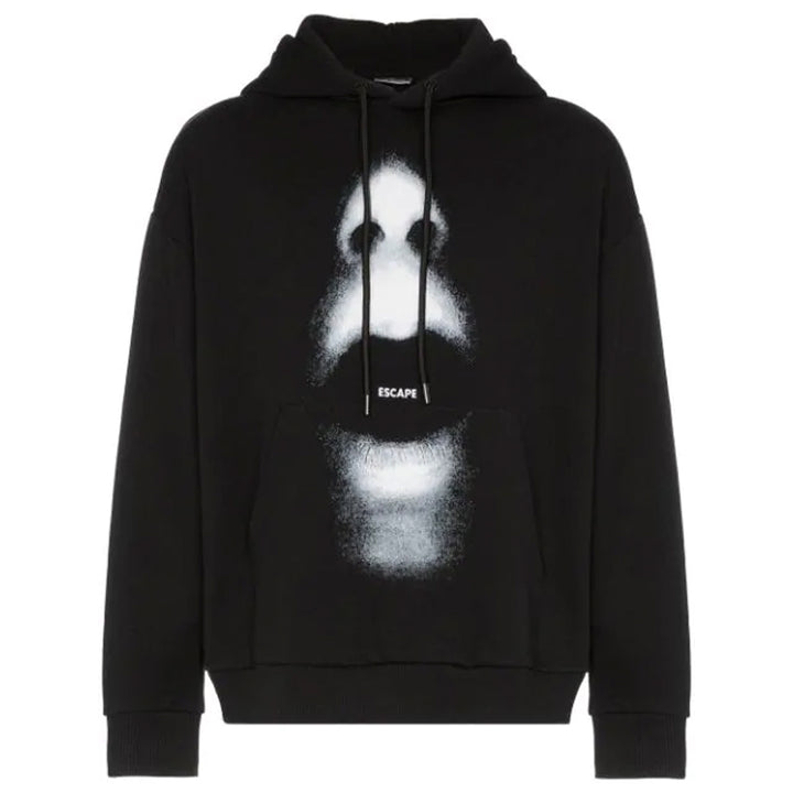 Mouth Over Hoodie - Black | Marcelo Burlon