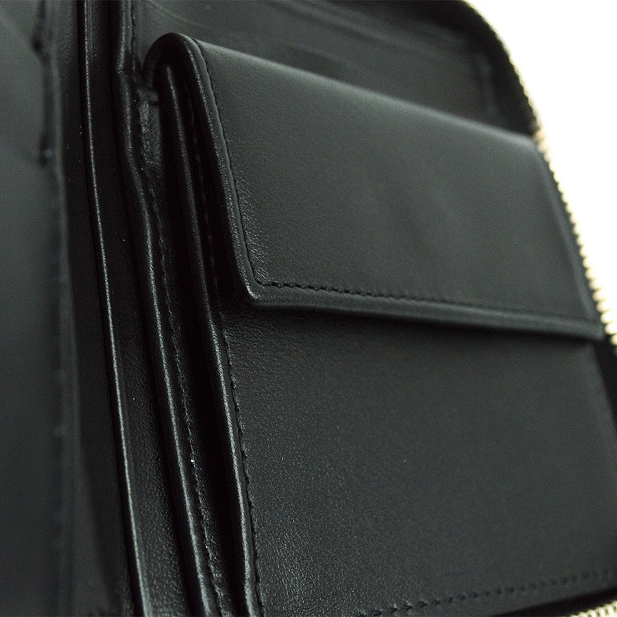 Neil Barrett Leather Zip Holder Black