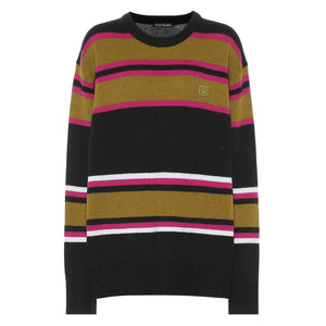 Nimah Stripe Face Sweater - Multi | Acne Studios