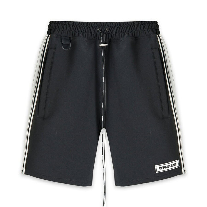 Track Shorts - Black/White | REPRESENT CLO