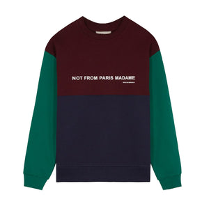 Panelled Slogan Sweatshirt - Multi | Drôle De Monsieur