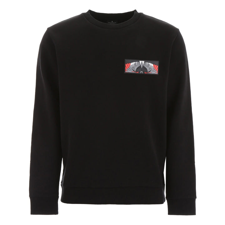 Patch Wings Crewneck - Black | Marcelo Burlon
