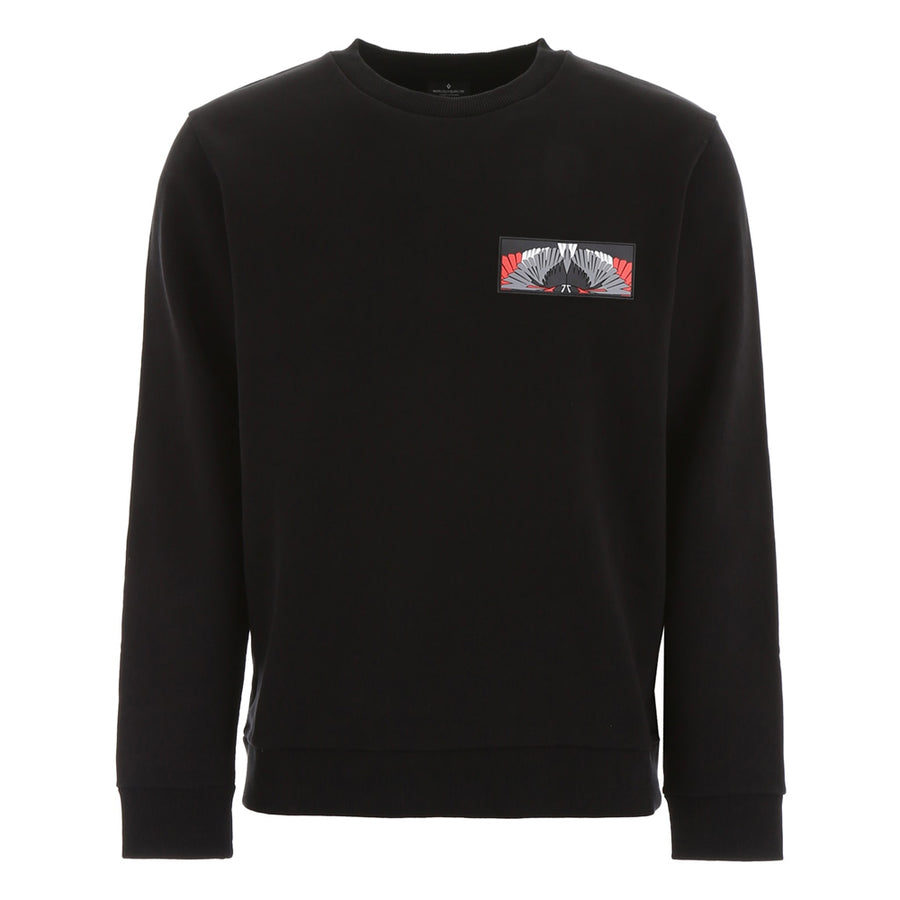Marcelo Burlon Patch Wings Crewneck Black Multicolour