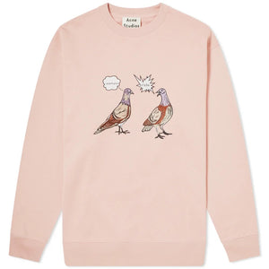 Acne Studios Forba Animal Emb Sweater Old Pink