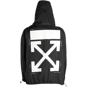 Packaway Rain Pullover - Black White | Off-White
