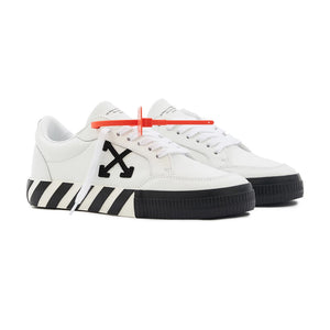 Low Vulcanized Sneaker - White Black | Off-White