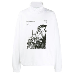 Ruined Factory Over Mock Tee - White Black | Off White