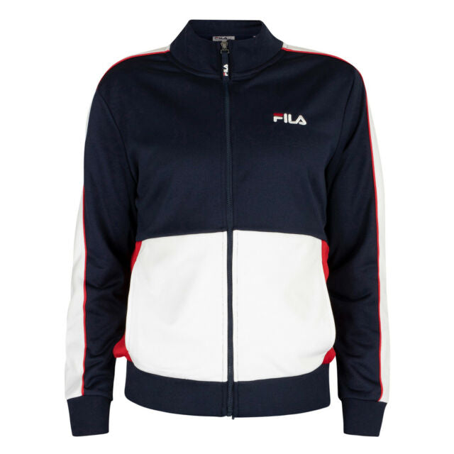 Michele Double Face Track Jacket - Navy/White/Red